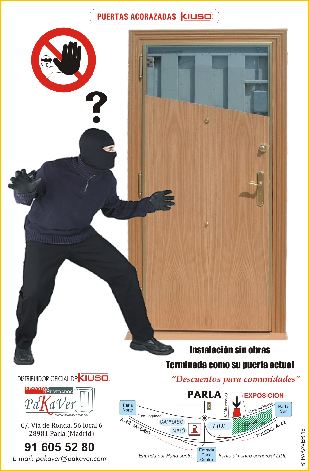 Puertas acorazadas kiuso for Como poner una puerta de madera con marco