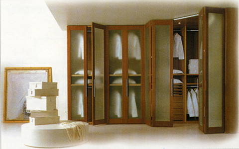 Armarios empotrados con puertas plegables - Puertas de armarios empotrados de diseno ...