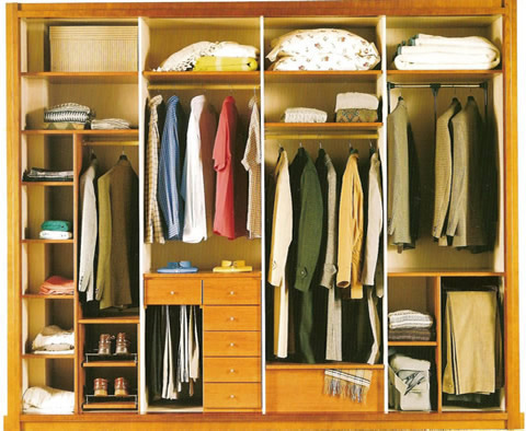 Interiores de armarios empotrados - Distribucion de armarios empotrados ...