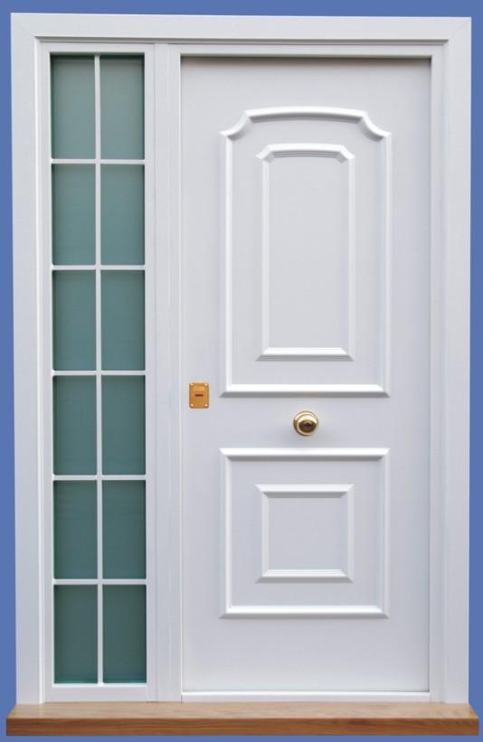 Puertas acorazadas kiuso for Puertas de exterior con cristal