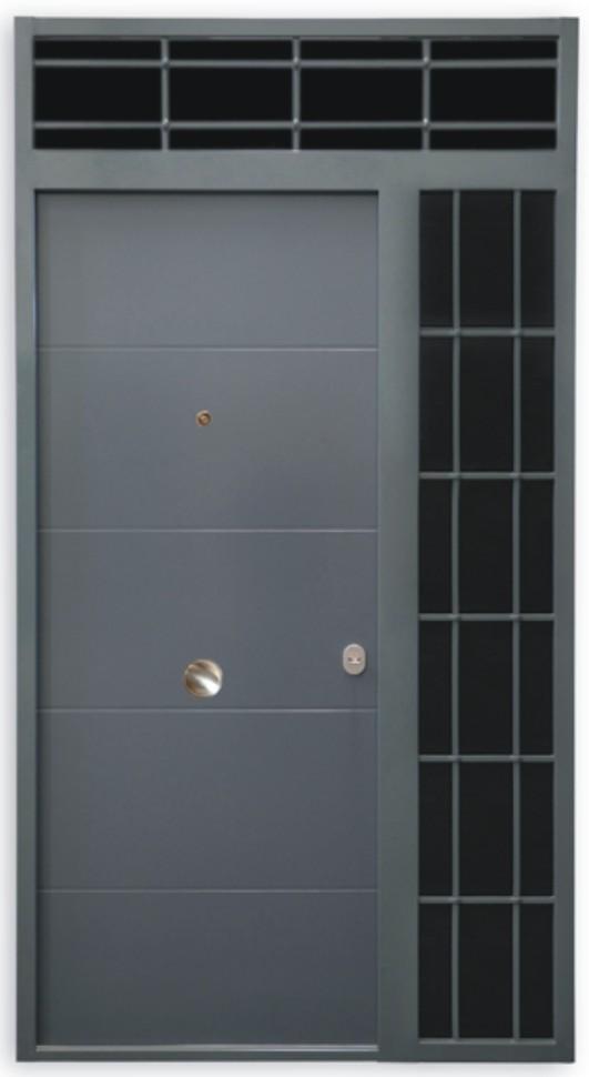 Puertas acorazadas kiuso for Puertas de chapa para exterior