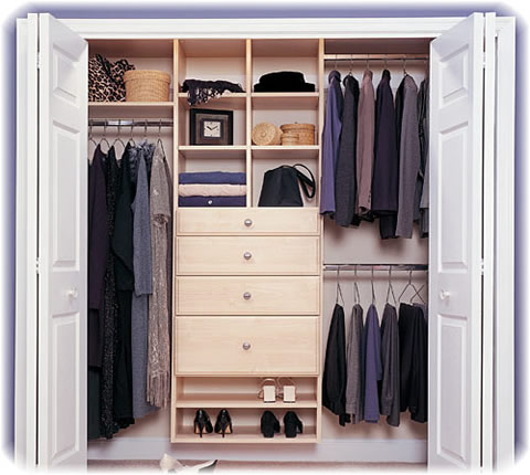 How to Organize a Walk in Closet  OrganizedLivingcom